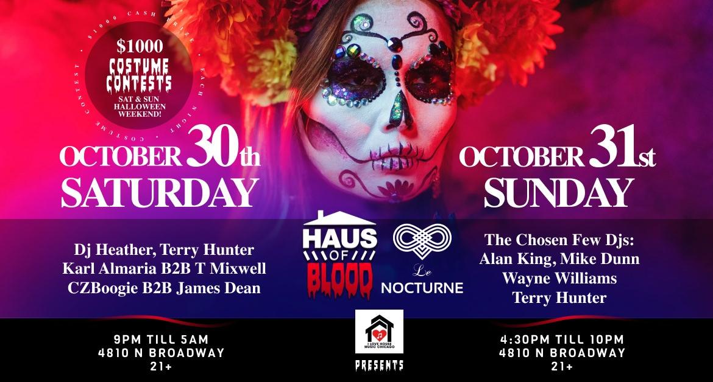 Halloween Parties. $1,000 Costume Contest w Chosen Few Djs, Dj Heather&More! House Music.
